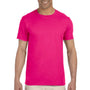 Gildan Mens Softstyle Short Sleeve Crewneck T-Shirt - Antique Heliconia Pink