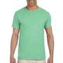 Gildan Mens Softstyle Short Sleeve Crewneck T-Shirt - Mint Green