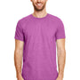 Gildan Mens Softstyle Short Sleeve Crewneck T-Shirt - Heather Radient Orchid Purple