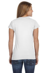 Gildan G640L Womens Softstyle Short Sleeve Crewneck T-Shirt White Back