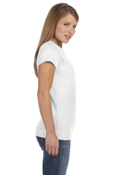 Gildan G640L Womens Softstyle Short Sleeve Crewneck T-Shirt White Side