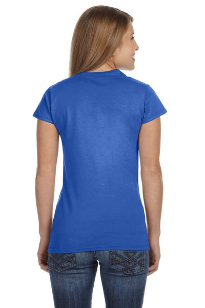 Gildan G640L Womens Softstyle Short Sleeve Crewneck T-Shirt Heather Royal Blue Back