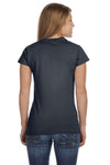 Gildan G640L Womens Softstyle Short Sleeve Crewneck T-Shirt Charcoal Grey Back