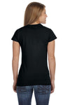 Gildan G640L Womens Softstyle Short Sleeve Crewneck T-Shirt Black Back