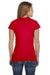 Gildan G640L Womens Softstyle Short Sleeve Crewneck T-Shirt Red Back