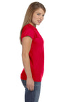 Gildan G640L Womens Softstyle Short Sleeve Crewneck T-Shirt Red Side