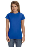 Gildan G640L Womens Softstyle Short Sleeve Crewneck T-Shirt Royal Blue Front