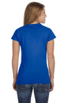 Gildan G640L Womens Softstyle Short Sleeve Crewneck T-Shirt Royal Blue Back