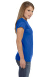 Gildan G640L Womens Softstyle Short Sleeve Crewneck T-Shirt Royal Blue Side