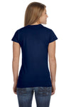 Gildan G640L Womens Softstyle Short Sleeve Crewneck T-Shirt Navy Blue Back