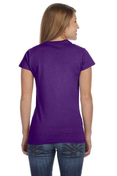 Gildan G640L Womens Softstyle Short Sleeve Crewneck T-Shirt Purple Back