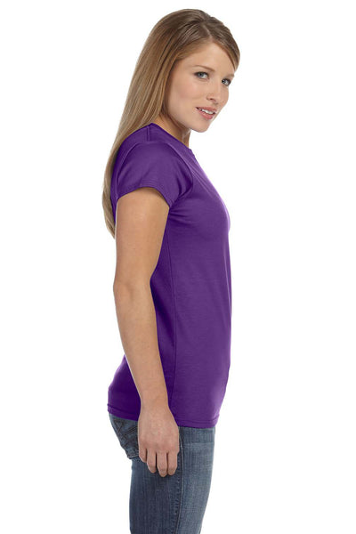 Gildan G640L Womens Softstyle Short Sleeve Crewneck T-Shirt Purple Side