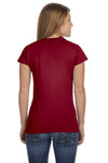 Gildan G640L Womens Softstyle Short Sleeve Crewneck T-Shirt Antique Cherry Red Back