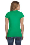 Gildan G640L Womens Softstyle Short Sleeve Crewneck T-Shirt Irish Green Back
