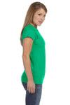 Gildan G640L Womens Softstyle Short Sleeve Crewneck T-Shirt Irish Green Side