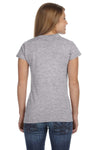 Gildan G640L Womens Softstyle Short Sleeve Crewneck T-Shirt Sport Grey Back