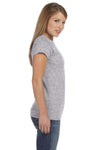 Gildan G640L Womens Softstyle Short Sleeve Crewneck T-Shirt Sport Grey Side