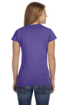 Gildan G640L Womens Softstyle Short Sleeve Crewneck T-Shirt Heather Purple Back