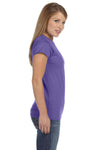 Gildan G640L Womens Softstyle Short Sleeve Crewneck T-Shirt Heather Purple Side