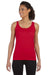 Gildan G642L Womens Softstyle Tank Top Cherry Red Front