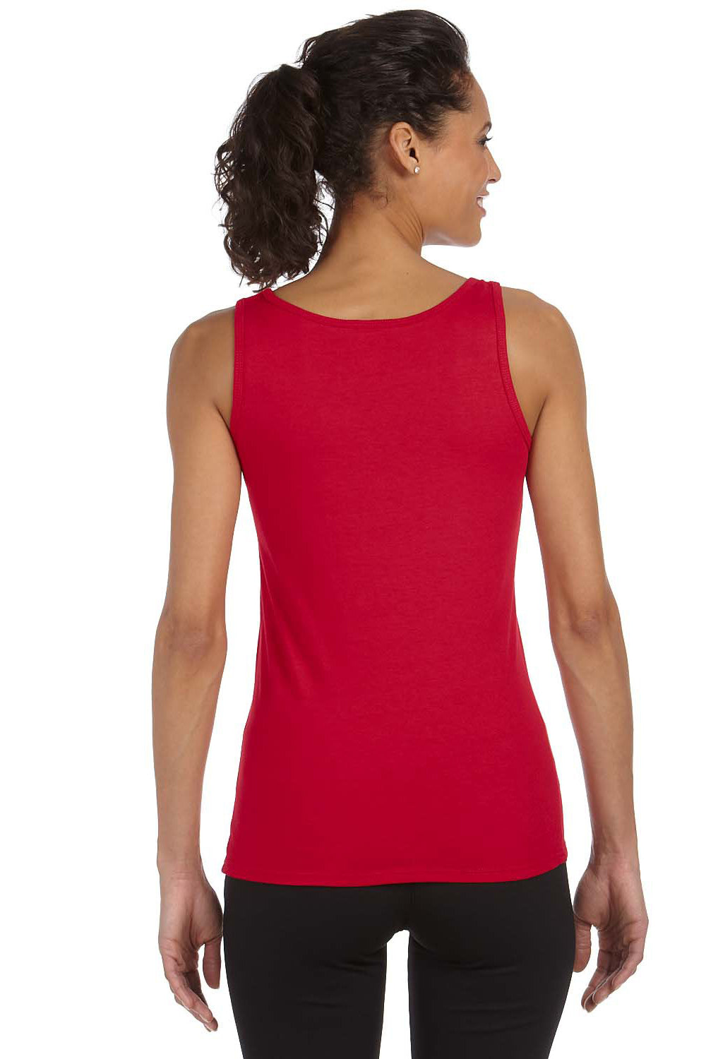 Gildan G642L Womens Softstyle Tank Top Cherry Red Back