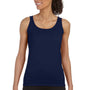 Gildan Womens Softstyle Tank Top - Navy Blue