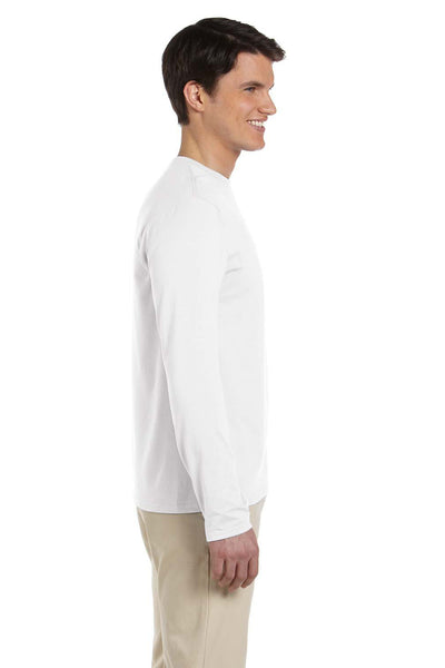 Gildan G644 Mens Softstyle Long Sleeve Crewneck T-Shirt White Side