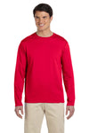 Gildan G644 Mens Softstyle Long Sleeve Crewneck T-Shirt Cherry Red Front