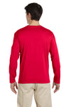 Gildan G644 Mens Softstyle Long Sleeve Crewneck T-Shirt Cherry Red Back