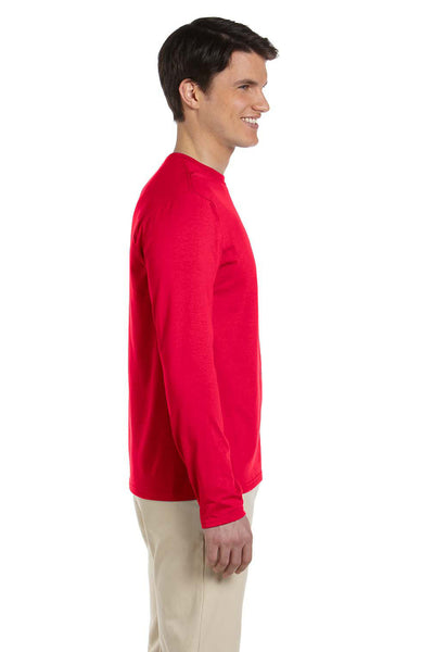 Gildan G644 Mens Softstyle Long Sleeve Crewneck T-Shirt Cherry Red Side