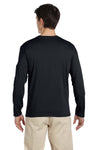 Gildan G644 Mens Softstyle Long Sleeve Crewneck T-Shirt Black Back