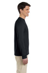 Gildan G644 Mens Softstyle Long Sleeve Crewneck T-Shirt Black Side