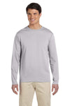 Gildan G644 Mens Softstyle Long Sleeve Crewneck T-Shirt Sport Grey Front