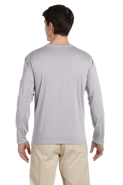 Gildan G644 Mens Softstyle Long Sleeve Crewneck T-Shirt Sport Grey Back