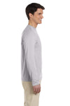 Gildan G644 Mens Softstyle Long Sleeve Crewneck T-Shirt Sport Grey Side