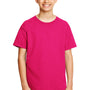 Gildan Youth Softstyle Short Sleeve Crewneck T-Shirt - Heliconia Pink