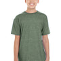 Gildan Youth Softstyle Short Sleeve Crewneck T-Shirt - Heather Military Green
