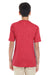 Gildan G645B Youth Softstyle Short Sleeve Crewneck T-Shirt Heather Red Back