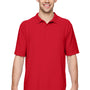 Gildan Mens DryBlend Moisture Wicking Short Sleeve Polo Shirt - Red