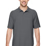 Gildan Mens DryBlend Moisture Wicking Short Sleeve Polo Shirt - Charcoal Grey
