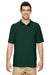 Gildan G728 Mens DryBlend Moisture Wicking Short Sleeve Polo Shirt Forest Green Front