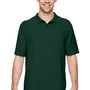 Gildan Mens DryBlend Moisture Wicking Short Sleeve Polo Shirt - Forest Green