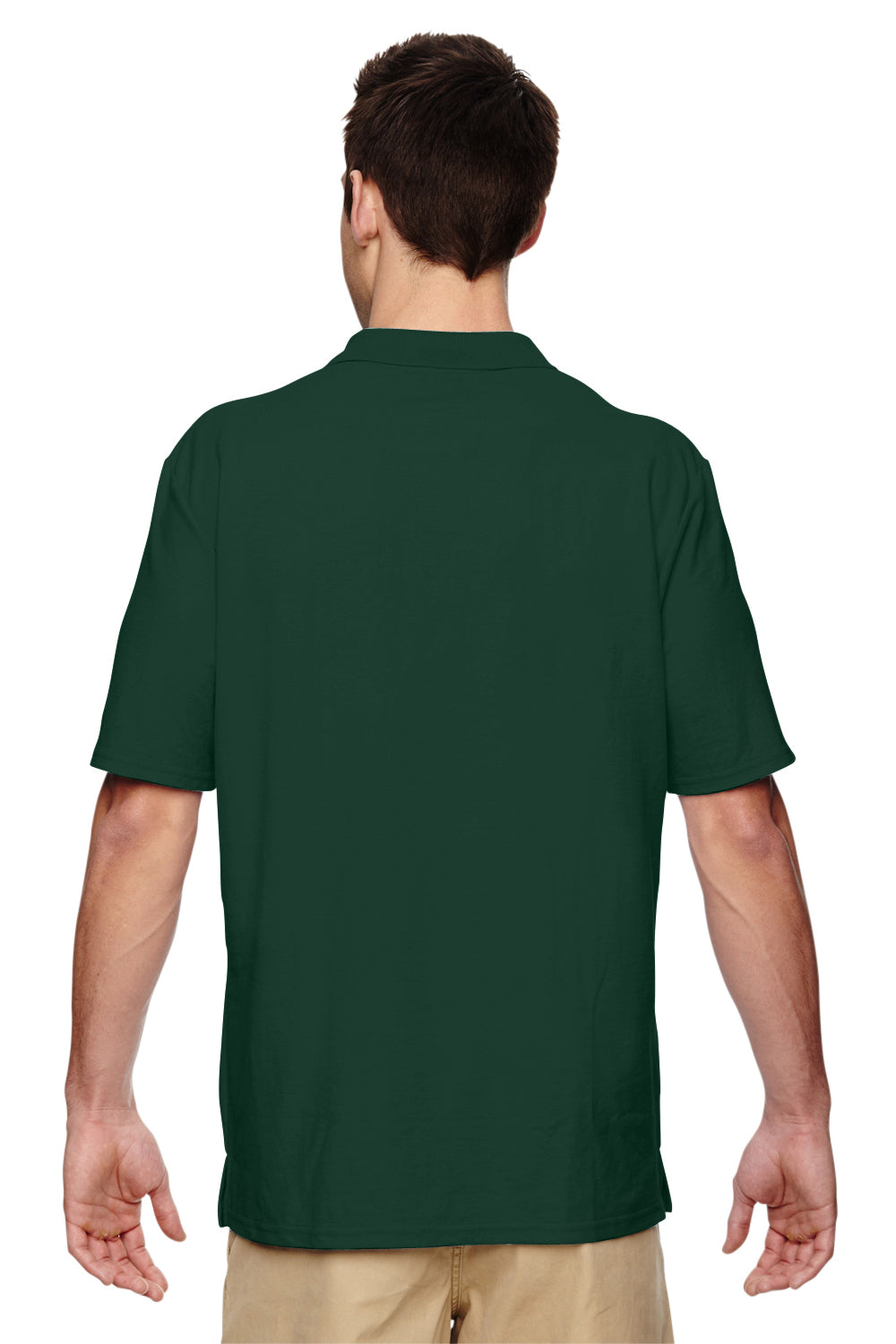 Gildan G728 Mens DryBlend Moisture Wicking Short Sleeve Polo Shirt Forest Green Back
