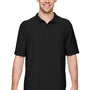 Gildan Mens DryBlend Moisture Wicking Short Sleeve Polo Shirt - Black