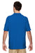 Gildan G728 Mens DryBlend Moisture Wicking Short Sleeve Polo Shirt Royal Blue Back