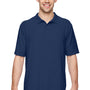Gildan Mens DryBlend Moisture Wicking Short Sleeve Polo Shirt - Navy Blue
