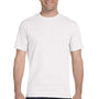 Gildan Mens DryBlend Moisture Wicking Short Sleeve Crewneck T-Shirt - White