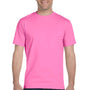 Gildan Mens DryBlend Moisture Wicking Short Sleeve Crewneck T-Shirt - Azalea Pink