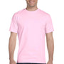 Gildan Mens DryBlend Moisture Wicking Short Sleeve Crewneck T-Shirt - Light Pink