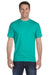 Gildan G800 Mens DryBlend Moisture Wicking Short Sleeve Crewneck T-Shirt Jade Green Front